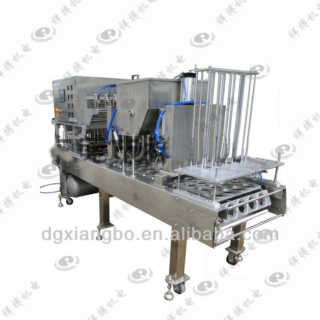 Auto Production Line Four Cup Lane Filling and Sealing Machine XBBH-95-4