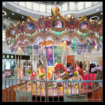 christmas discount games shopping center carousel decoration