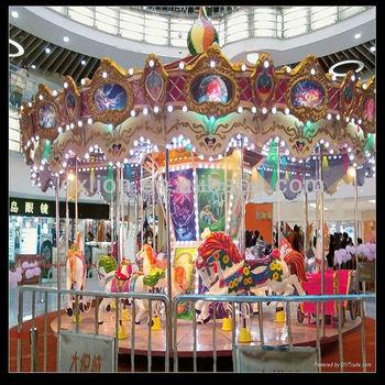 christmas discount games shopping center carousel decoration - Christmas Carousel Decoration