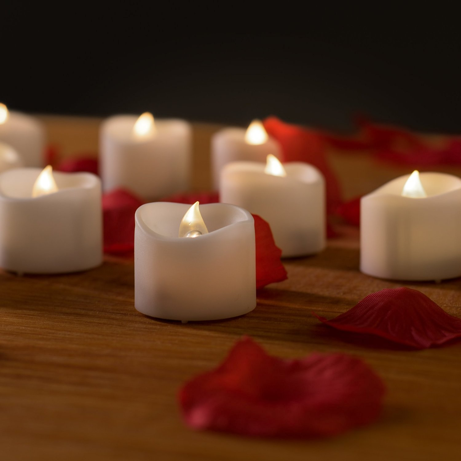 Flameless Candles With Timer Valkit Votive Battery Operated Led Tea Lights