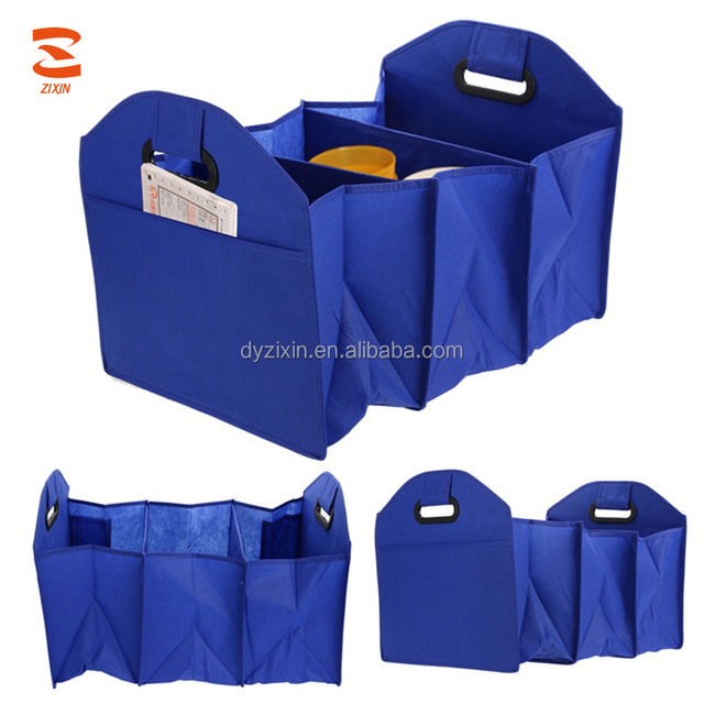 Three Section Car Boot Organiser Trunk Grocery Bag Collapsible Storage For  Adults