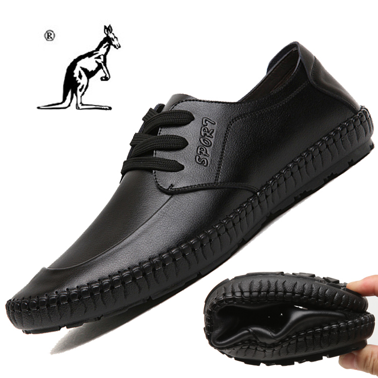 2015 New Classic Men's Fashion Sneakers Genuine Leather Shoes Breathable Lacing Loafer Flat shoes Male Causal Sneaker Sport Shoe