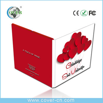 Promotional business advertising video book,video brochure