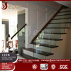 304 /316 stainless steel hanrail tempered laminated glass porch railing system