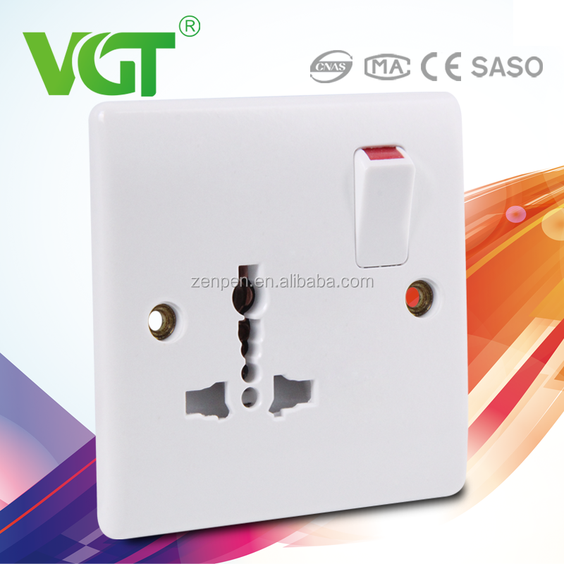 VGT Low maintenance cost Outdoor water proof 1gang switch 1 socket