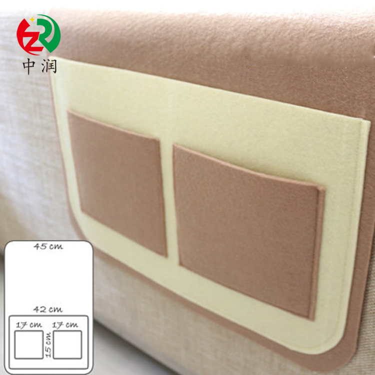 Chinese supplier new design fashion felt sofa armrest organizer