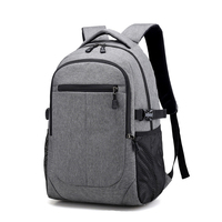 unisex softback external canvas back pack bags for school travel