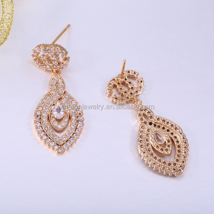 Thailand Jewellery Whole New 2018 Latest Gold Earring Design