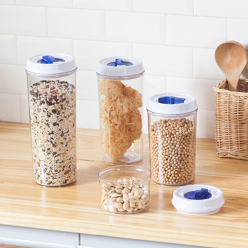 De rangement en plastique conteneurs 5 pcs cuisine en plastique garder les aliments frais - Boite plastique cuisine ...