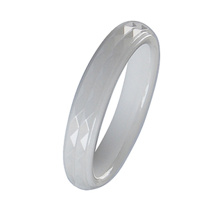 Most popular wedding/engagement rings withenergy white ceramic