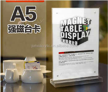 Save Magnetic Acrylic Restaurant Table Tent Card Display Stand - Restaurant table tents