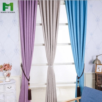 Ready made solid waterproof blackout curtain for living room window curtain