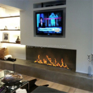 24 inch remote control intelligent ethanol electric fire place marble