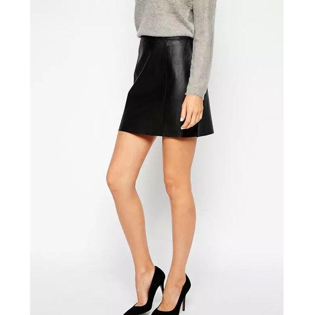 7ef05d7f75ce3 Get Quotations · 2015 High Quality Women Skirt PU Leather Skirt Feminine Black  Mini Skirt Hot Sell Party Skirt