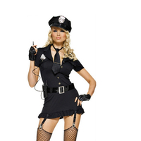 Low price Wholesale Woman Officer Uniform sexy cop police girl uniform costume