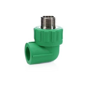 China supplier ppr pipe fitting brass threaded male elbow