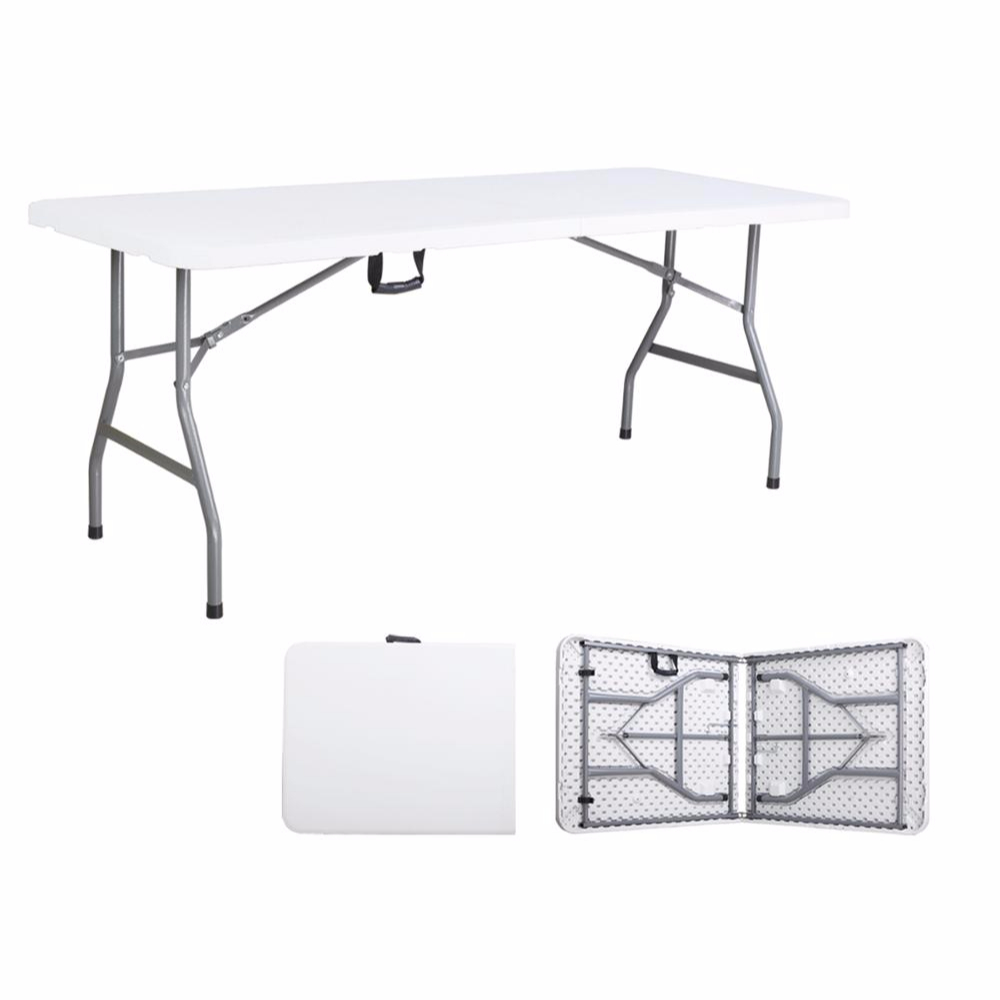 - 6ft Folding Cafeteria Easy To Clean Plastic Table For Cafeteria