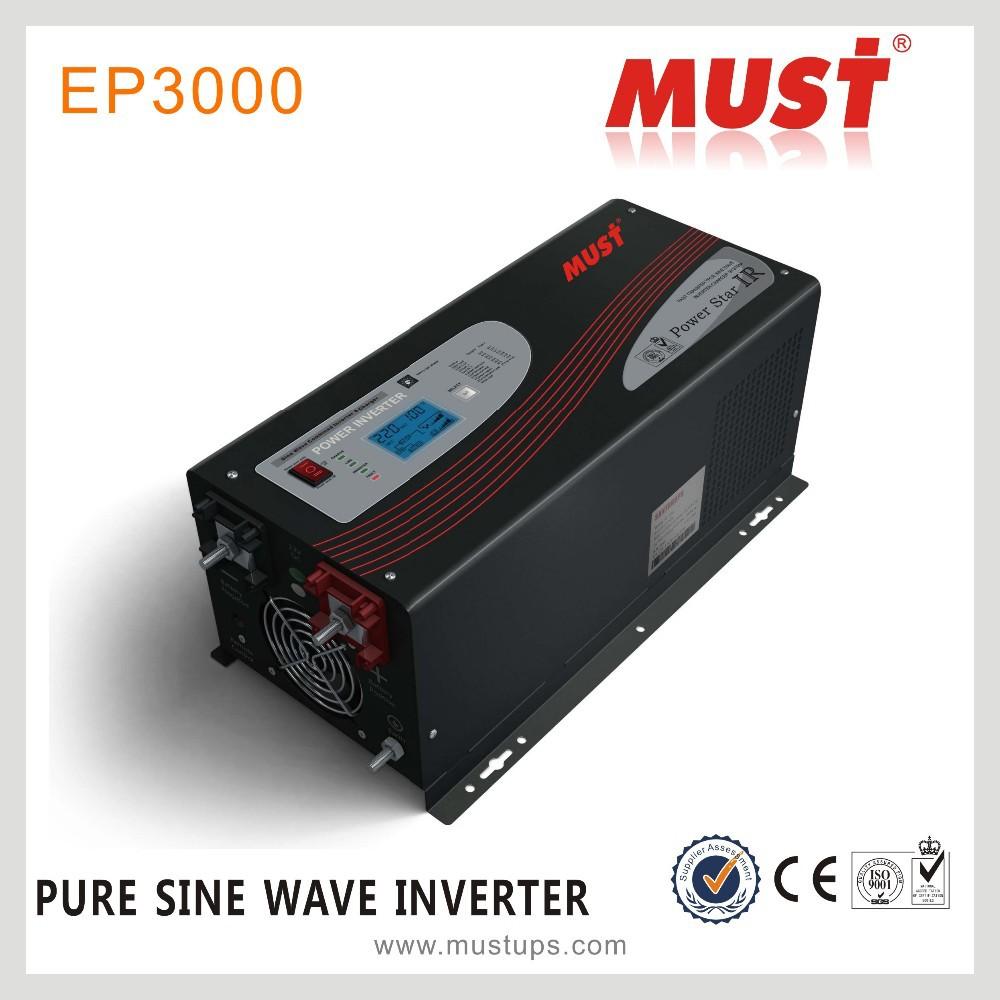 Hot Sale3000w Pure Sine Wave Solar Power Inverter Dc 24v 12v 48v To 3000w Ac 110v 220v Digital Display With Charger Buy Inverter120v 240v