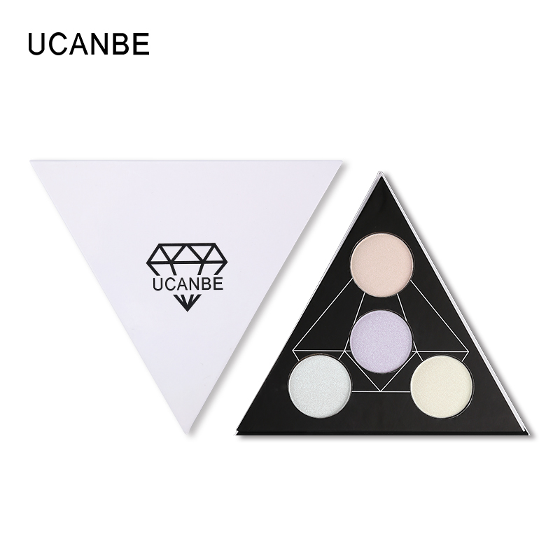 Hot Koop UCANBE Cosmetica 4 Kleuren Gezicht Lichaam Markeerstift Illuminator Glitter Bronzer Shimmer Highlighter Make up Palet