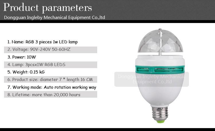 E27 B22 Rgb Led Full Color Rotating Lamp Party Disco Bulb Lamp/led ...