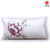 flower embroidered pillow case