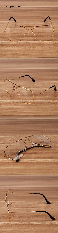 Hdcrafter Neue Gold Rahmen Klare Pilotenbrille Für Männer Übergroße ...