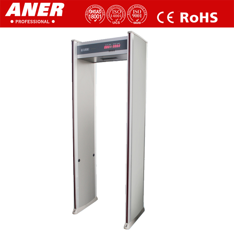 Indoor use economical factory price walk through metal detector with sound and light alarm