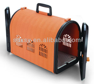 Portableair conditioned pet carrier with double doors