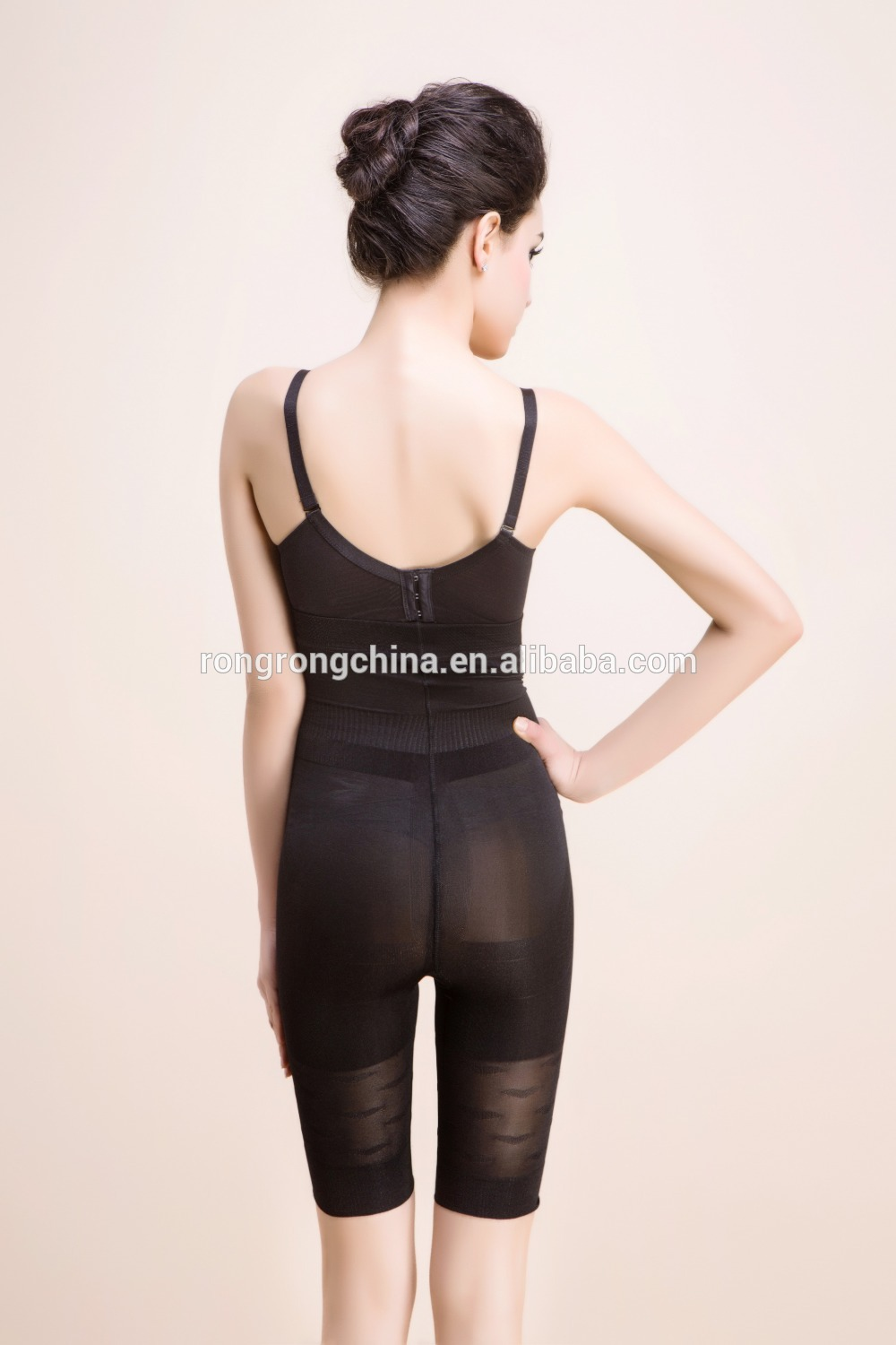 Custom knitted and seamed sexy transparent bodysuit women shapers 35532