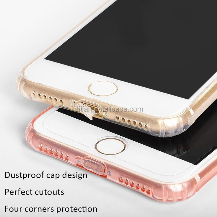 2017 New Antislip Design Back Cover for iphone 7 plus Transparent soft TPU Case for iphone 7 plus
