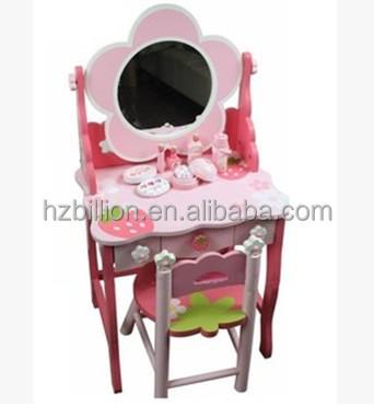 Mother Garden Children Wooden Vanity and Stool kids furniture