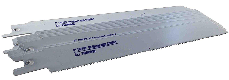 """Blu-Mol Bi-Metal Reciprocating Saw Blades (Wood) (6482), 6 TPI, 9"""" x 3/4"""" x .05"""" (50 Pack)"""