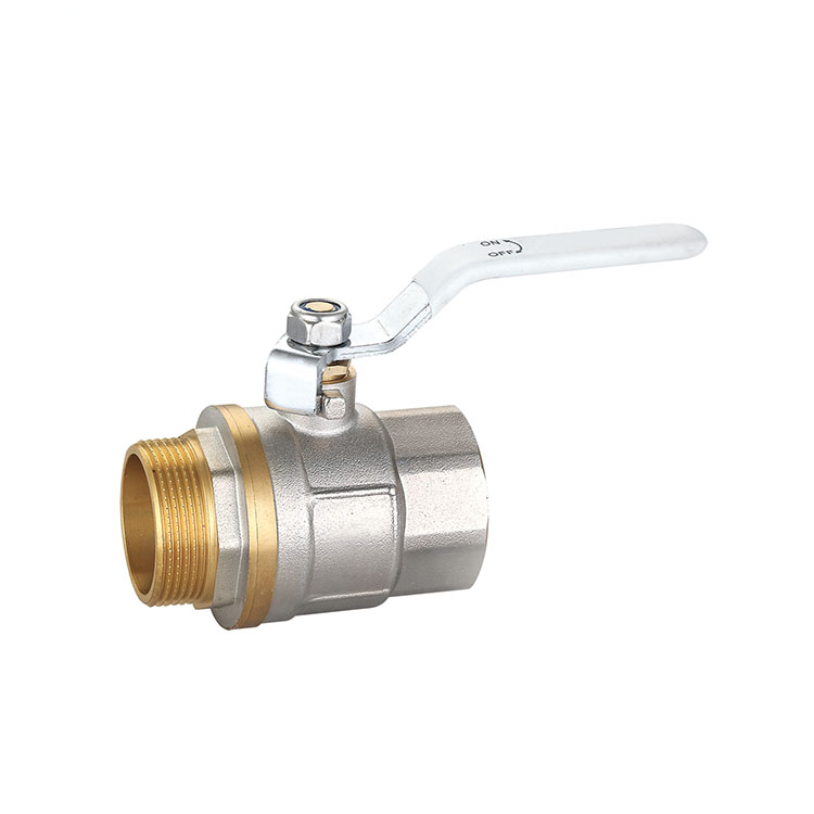 JUNXIANG Chrome plated white handle ball valve for control flow water