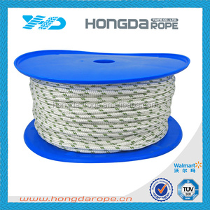 Hard nylon 6mm polyester braided rope