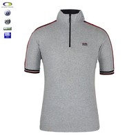 Manufacture Zipper Breathable Polo Shirts For Men Embroidered