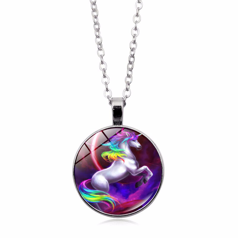 ANK1940614 Best Selling <strong>Cheap</strong> Fashion <strong>Cute</strong> Rainbow Color Pendent <strong>Necklaces</strong> Jewelry For Kids