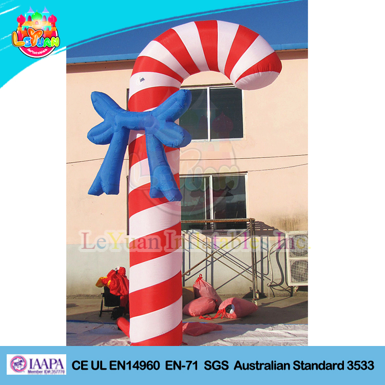 Air Blown/ Inflatable Candy Cane Christmas Crutch Arch Advertising