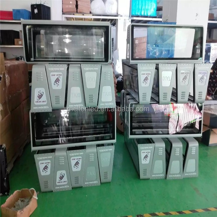 3g car taxi display led display roof top double sides P5mm