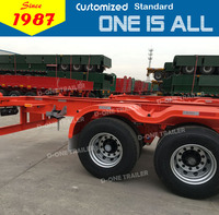 China factory supply gooseneck container trailer chassis with 40tons load capacity