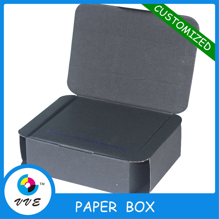Acoustic protected corrugated paper packaging box with custom printing