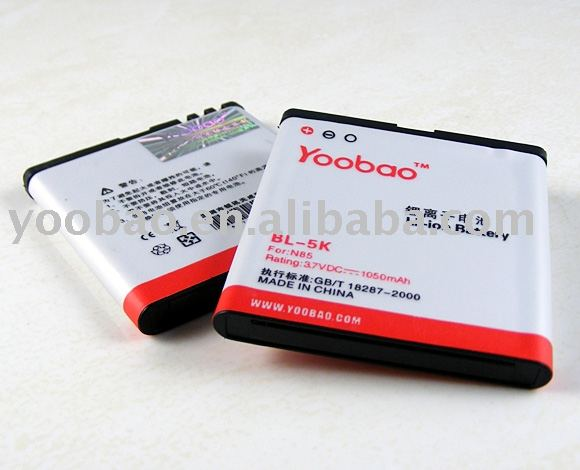 YOOBAO Brand New Battery For Nokia N85 BL-5K 1050mAh