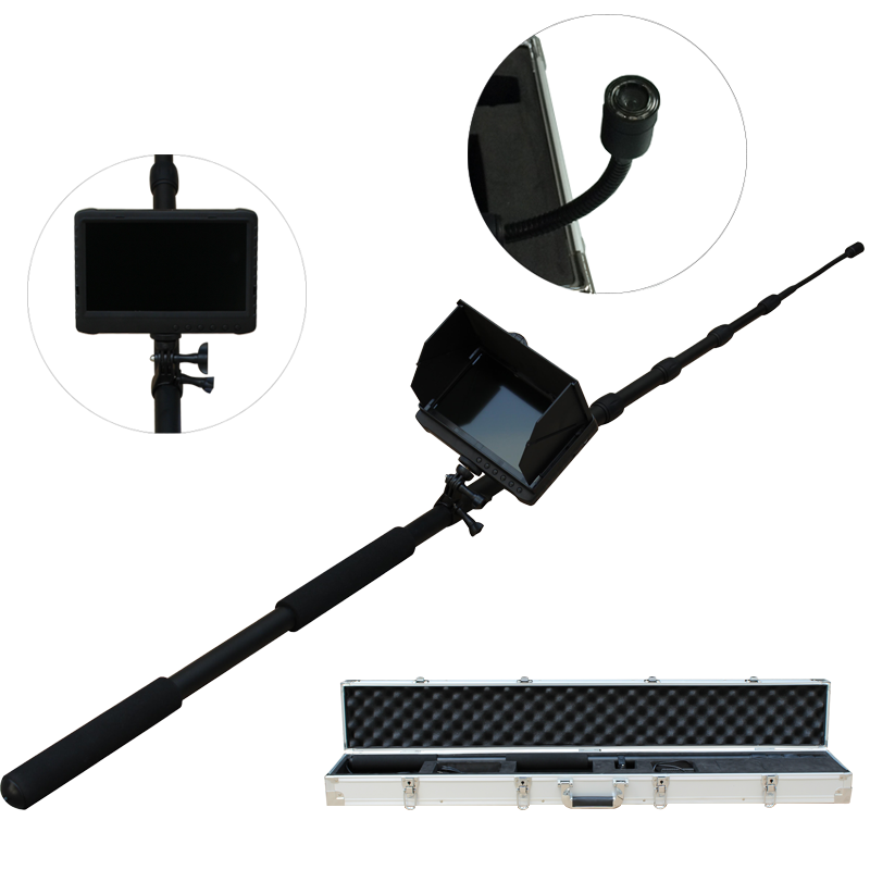 Extendable 5m long pole H.264 video CCTV security camera system with 7 inch LCD DVR monitor