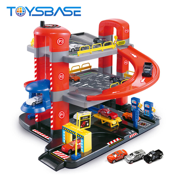 2016 Toys Kids Parking Lot Toy Car Garage