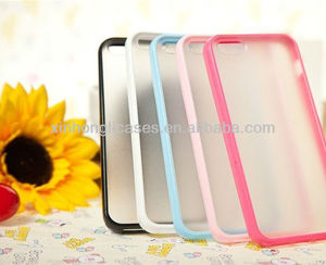 "tpu bumper + matte pc backside case cover for iphone 5 5"" 5g"
