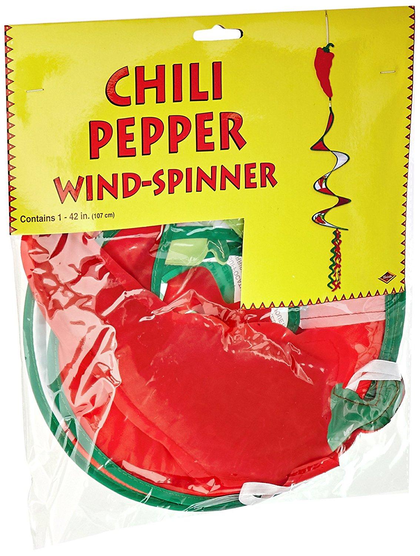 Beistle 50734 Chili Pepper Wind-Spinner, 3-Feet 6-Inch
