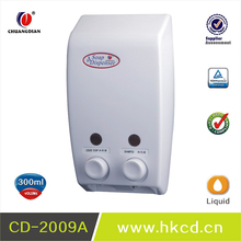 CHUANDGIAN Double liquid soap dispenser Durable Plastic Soap Container FOR hotel roomsCD-2009A