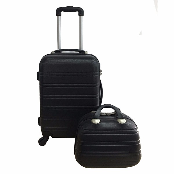 Classic ABS Carry-on Luggage Cosmetic Case 2 Piece Set cabin trolley luggage