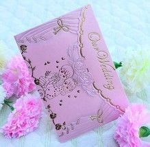 fancy india box style golden wedding invation card & Free sample 2014 wedding card & wholesale New design invitation card
