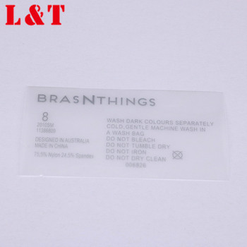 Free custom design plastic silicone garment labels T-shirt heat transfer label for clothing transfer label printer
