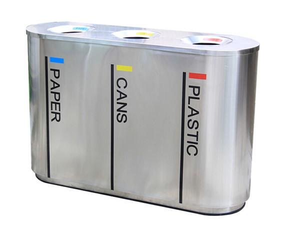 4 Compartment Outdoor Metal Recycle Bin Buy 4